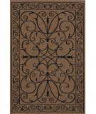 RugStudio presents Nuloom Machine Made Kiah Outdoor Brown Machine Woven, Good Quality Area Rug