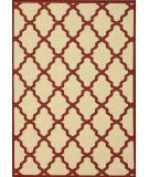 RugStudio presents Nuloom Machine Made Trellis Outdoor Red Machine Woven, Good Quality Area Rug