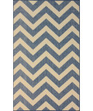 RugStudio presents Nuloom Machine Made Chevron Outdoor Blue Machine Woven, Good Quality Area Rug