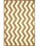 RugStudio presents Nuloom Machine Made Lynne Outdoor Vertical Chevron Taupe Machine Woven, Good Quality Area Rug