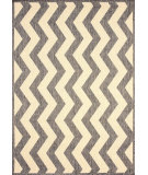 RugStudio presents Nuloom Machine Made Lynne Outdoor Vertical Chevron Grey Machine Woven, Good Quality Area Rug