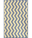RugStudio presents Nuloom Machine Made Lynne Outdoor Vertical Chevron Blue Machine Woven, Good Quality Area Rug