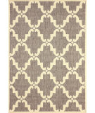 RugStudio presents Nuloom Machine Made Minnie Outdoor Trellis Grey Machine Woven, Good Quality Area Rug