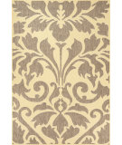 RugStudio presents Nuloom Machine Made Ruby Outdoor Damask Grey Machine Woven, Good Quality Area Rug