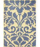 RugStudio presents Nuloom Machine Made Ruby Outdoor Damask Blue Machine Woven, Good Quality Area Rug