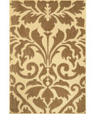 RugStudio presents Nuloom Machine Made Ruby Outdoor Damask Brown Machine Woven, Good Quality Area Rug