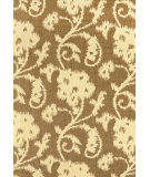 RugStudio presents Nuloom Machine Made Floral Santiago Taupe Machine Woven, Good Quality Area Rug