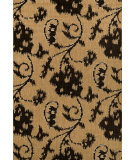 RugStudio presents Nuloom Machine Made Floral Santiago Beige Machine Woven, Good Quality Area Rug