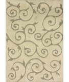 RugStudio presents Nuloom Machine Made Curled Vines Cream Machine Woven, Good Quality Area Rug