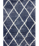 RugStudio presents Nuloom Machine Made Trellis Shag Blue Area Rug