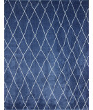 RugStudio presents Nuloom Machine Made Casablanca Shag Dark Blue Area Rug