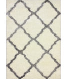 RugStudio presents Nuloom Machine Made Trellis Shag Grey Area Rug
