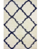 RugStudio presents Nuloom Machine Made Trellis Shag Blue Machine Woven, Better Quality Area Rug