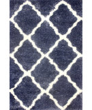 RugStudio presents Nuloom Machine Made Trellis Shag Denim Area Rug