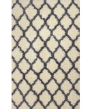 RugStudio presents Nuloom Machine Made Shaggy Criss Cross Ivory Machine Woven, Good Quality Area Rug