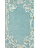 RugStudio presents Nuloom Hand Tufted Marco Polo Sky Blue Hand-Tufted, Good Quality Area Rug
