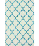 RugStudio presents Nuloom Hand Tufted Park Avenue Trellis Turquoise Hand-Tufted, Good Quality Area Rug