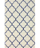 RugStudio presents Nuloom Hand Tufted Park Avenue Trellis Dark Blue Hand-Tufted, Good Quality Area Rug