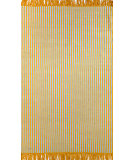 RugStudio presents Nuloom Flatweave Striped Eula Yellow Flat-Woven Area Rug