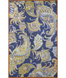 RugStudio presents Nuloom Hand Tufted Paisley Blue Hand-Tufted, Good Quality Area Rug