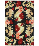RugStudio presents Nuloom Flatweave Floral Notion Black Flat-Woven Area Rug