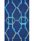RugStudio presents Nuloom Flat Woven Darby Blue Flat-Woven Area Rug