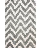 RugStudio presents Nuloom Hand Tufted Arlina Chevron Shag Grey Area Rug