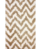 RugStudio presents Nuloom Hand Tufted Arlina Chevron Shag Tan Area Rug