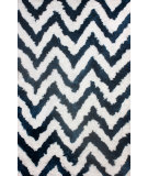 RugStudio presents Nuloom Hand Tufted Arlina Chevron Shag Teal Area Rug
