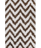 RugStudio presents Nuloom Hand Tufted Arlina Chevron Shag Cocoa Area Rug