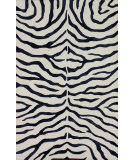 RugStudio presents Nuloom Hand Tufted Plush Zebra Navy Blue Hand-Tufted, Good Quality Area Rug