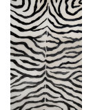 RugStudio presents Nuloom Hand Tufted Plush Zebra Black Hand-Tufted, Good Quality Area Rug