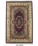 RugStudio presents ORG Destin Aubusson Burgundy Hand-Tufted, Good Quality Area Rug