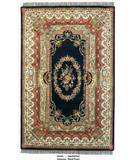 RugStudio presents ORG Destin Aubusson Black/Ivory Hand-Tufted, Good Quality Area Rug