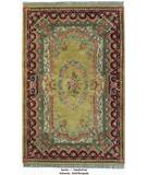 RugStudio presents ORG Destin Aubusson Gold/Burgundy Hand-Tufted, Good Quality Area Rug