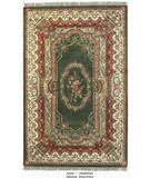 RugStudio presents ORG Destin Aubusson Green/Ivory Hand-Tufted, Good Quality Area Rug