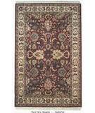 RugStudio presents ORG Handtufted Floral Heriz Burgundy Hand-Tufted, Better Quality Area Rug