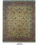RugStudio presents ORG Handtufted Kashan Yellow Hand-Tufted, Better Quality Area Rug