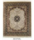 RugStudio presents ORG Merlot Med. Lavar Cream/Black Hand-Tufted, Best Quality Area Rug
