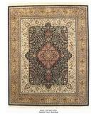 RugStudio presents ORG Merlot Med. Tabriz Black/Beige Hand-Tufted, Best Quality Area Rug