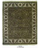 RugStudio presents ORG Ovations St-9 Green / Beige Hand-Tufted, Best Quality Area Rug