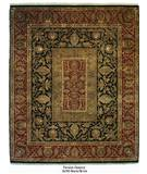 RugStudio presents ORG Persian Classics GC40 Black / Brick Red Hand-Knotted, Best Quality Area Rug