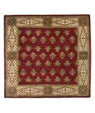 RugStudio presents ORG Handtufted Timas Burgundy Hand-Tufted, Better Quality Area Rug