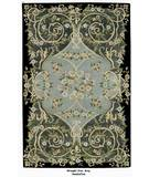 RugStudio presents ORG Handtufted Wrought Iron Gray/Black Hand-Tufted, Better Quality Area Rug