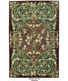 RugStudio presents ORG Handtufted Wrought Iron Plum Hand-Tufted, Better Quality Area Rug