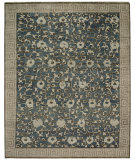 RugStudio presents ORG Relic Scattered Vine Blue Hand-Knotted, Good Quality Area Rug