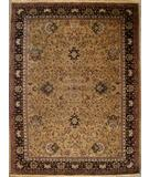 RugStudio presents ORG Indo-Persian 1275 Camel-Black Hand-Knotted, Good Quality Area Rug