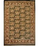 RugStudio presents J. Aziz Shah Abbas FLORAL Black / Red Hand-Knotted, Good Quality Area Rug