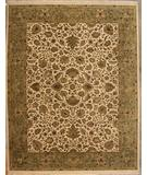 RugStudio presents ORG Antiqued Jaipur MK-27 Ivory-Green Hand-Knotted, Good Quality Area Rug