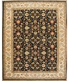 RugStudio presents ORG Indo-Persian 908 Black-Beige Hand-Knotted, Best Quality Area Rug